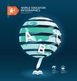 education and graduation infographic world vector image vector image