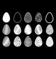 egg white set vector image vector image