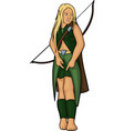 elven girl with bow vector image