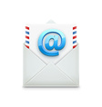 email concept realistic object isolated on white vector image vector image