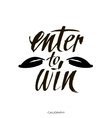 Enter to win Giveaway banner for social media vector image