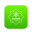 flower nature icon green vector image vector image