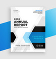 geometric blue annual report business brochure vector image