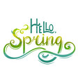 Handwritten lettering hello spring with