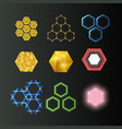 hexagon design geometric elements honeycombs vector image vector image