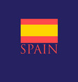 icon with spanish flag vector image vector image