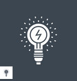 idea glyph icon vector image