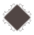 isolated frame and decoration design vector image