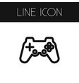 isolated gaming outline controller element vector image vector image