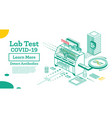 isometric covid-19 testing system antibody lab vector image vector image