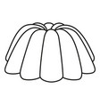 line art black and white jelly pudding vector image vector image