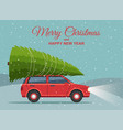 merry christmas and happy new year holiday winter vector image