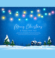 merry christmas winter greeting card bulb light vector image vector image