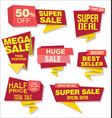 modern origami sale stickers and tags collection 1