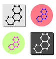 molecule flat icon vector image vector image