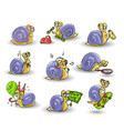 Mr snail on white background vector image