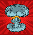nuclear explosion war vector image vector image
