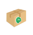 organic sticker on box vector image vector image