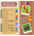 Philippines infographics statistical data sights vector image vector image