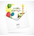 Postal Envelopes With Greeting Card vector image