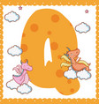 q alphabet letter for kids vector image