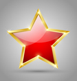 Red glossy star vector image
