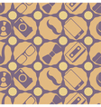 seamless background with different hipster objects vector image vector image