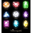 Set of colored crystals vector image vector image