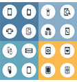 Set of simple smartphone icons