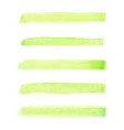 set of watercolor pastel green brushes stroke vector image vector image