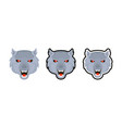 set wolves logos vector image