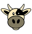 simple cartoon a cute cow vector image vector image