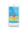 Smartphone and a map vector image