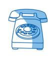 telephone call talk retro device icon vector image