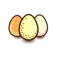 Three eggs icon vector image vector image