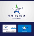 travel sierra leone flag creative star logo and vector image vector image