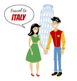 travel to italy vector image