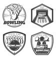 vintage monochrome active recreation emblems set vector image vector image