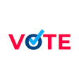 vote check mark ballot vector image vector image