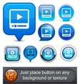 Watch high-detailed modern buttons vector | Price: 1 Credit (USD $1)