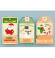 Winter Sale Tags Discount with elements of new yea vector image vector image