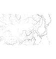 world map far east region japan korea china vector image vector image