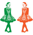 irish step dancer vector image
