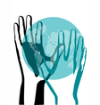 hand and earth vector image