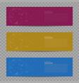 banner design background set vector image
