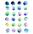 Watercolor splashes isolated on white background vector image