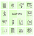 14 electronic icons vector image vector image