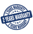 2 years warranty stamp vector image vector image