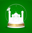 a mosque in crystal ball vector image vector image