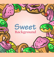 abstract background with sweets vector image